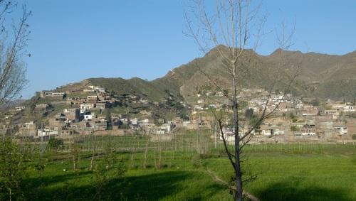 Ville de Mingora (Mingawra en pashto) dans la vallée de Swat