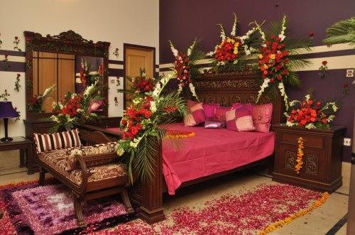 Gulshaan chambre de mariée pakistanaise